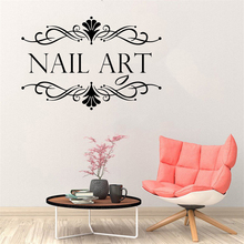 Shop Wall Decal Nail Salon Wall Art Stickers Vinyl Decals For Nail Salon Room Decor Sticker Vinyl Mural Wallpaper Poster  LW829 new tom cat jerry mouse wall art decal pvc material stickers wall decals for kids room vinyl wall sticker mural wallpaper