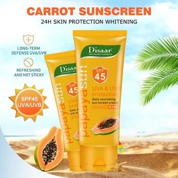 Protective Cream SPF45 PA+++ Sunscreen Cream Papaya Essence Moisturizing Anti-Uv Anti Sunburn Sunblock Sun Cream For Body Face