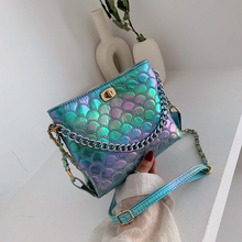 new Colorful Shoulder Bags for women 2019 bags designer crossbody fashion wild handbag casual chain bucket bag