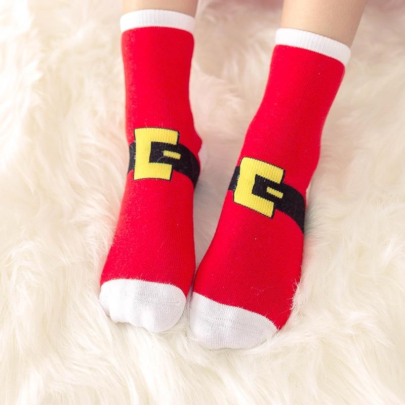 1 пара, рождественские подарки для детей, рождественские носки 25*8 см женские носки новогодние подарки, чулки рождественские подарки, год - Цвет: Type five