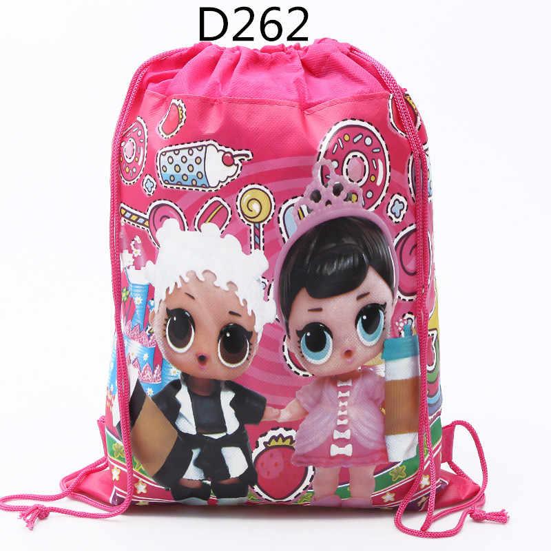 Bolsa de almacenamiento de bolsillo Original, bolsa de compras de tela no tejida, muñecas sorpresa lol, juguetes de figuras Anmie para niños 34*27CM