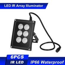 Iluminador infrarrojo para cámara de seguridad CCTV, conjunto de 6 uds. De LEDS IR, visión nocturna, gran angular, impermeable, para exteriores