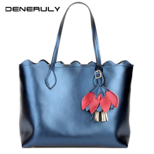 2019 new Summer Genuine Leather Women Bag Korean Style Luxury Handbags Fashion Soft Cow Leather Top-handle Bag Large Bolso Mujer new brand design european fashion style top handle women bag handbags spring