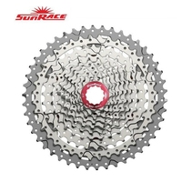 SunRace CSMX3 CSMS3 10 Speed 11-46T Cassette Bike Freewheel Sprocket Mountain Bicycle Cassette Black Sliver Bike Parts 10-speed