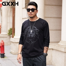 Oversized Tshirt Lion-Head Store-Costume Size-Clothes Long-Sleeve Cotton 3D GXXH Tees