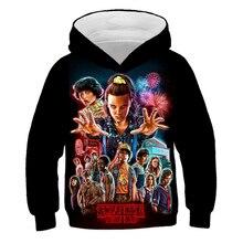Girls Hoodie Stranger Things Sweatshirt Pullover Costume Teenager 3d-Printed Boys Children