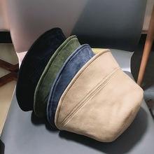 Панама замшевая унисекс однотонная универсальная шляпа от солнца