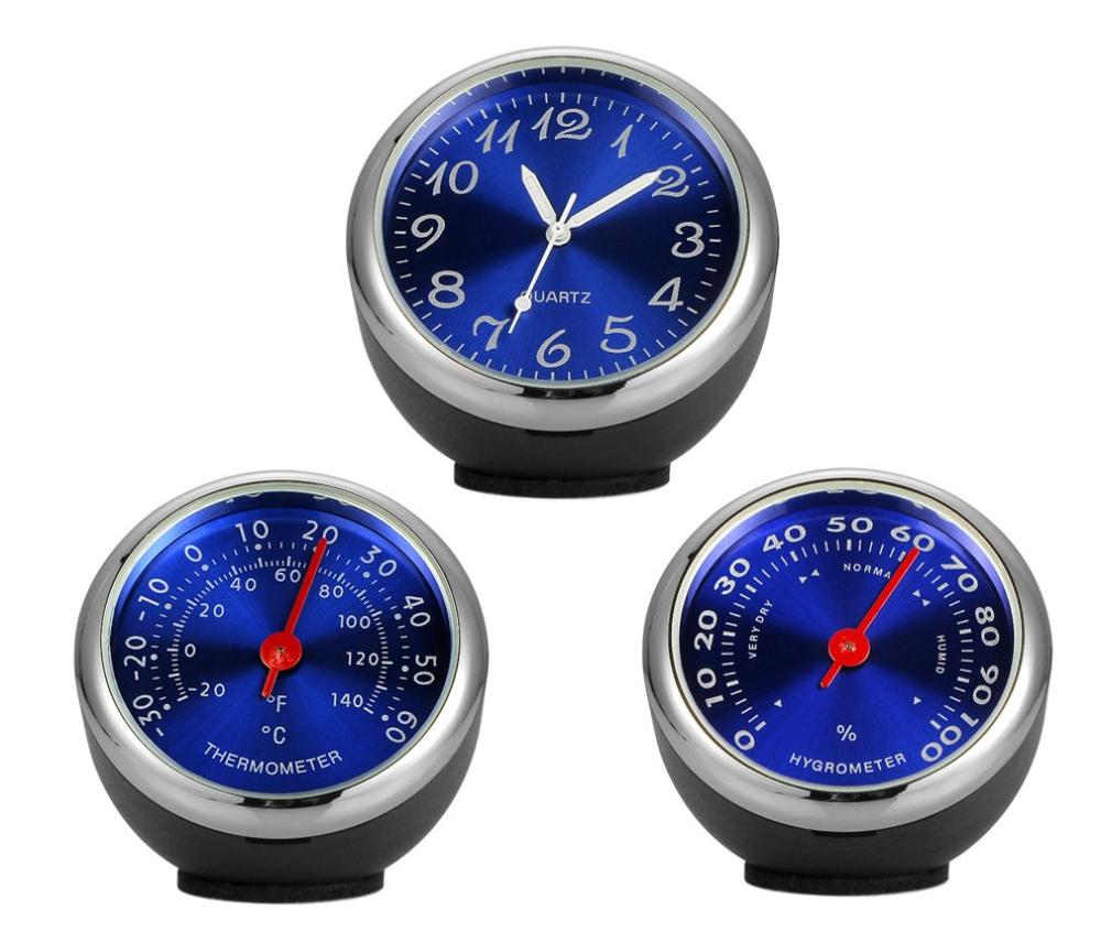 Seiko Steel Core Quality Automotive Mechanical Temperature and Humidity Meter Thermometer Car Clock Car Quartz