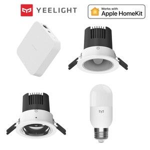 Image 1 - Yeelight Smart downlight 2700 6500K oprawa sufitowa w dół Light Mesh Hub dla aplikacji Mijia do inteligentnego sterowania APPle homekit