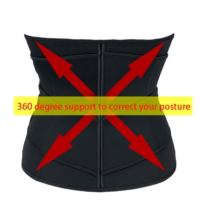 Women Waist Trainer Sauna Sweat Sport Girdle Cintas Modeladora Weight Loss Lumbar Workout Trimmer Belt Slimming Body Shaper 5