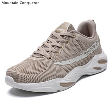 Mountain Conqueror Men Sneakers Breathable Casual No-slip Vulcanize Shoes Male Air Mesh Lace-up tenis masculino