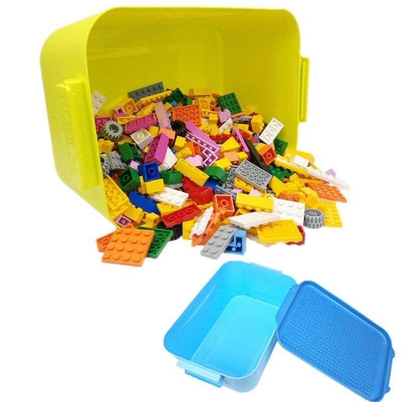 2021 г., город, Классические строительные блоки, игрушки, пластиковый ящик для хранения, основание, 1000 шт., игрушки, блоки для детей, мальчиков, п...