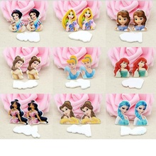 Princess Resin Charms Cute Girl Cabochons Charm Accessories For Necklace Cake Decoration Mini