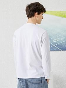 Image 4 - פיוניר 2020 אביב חולצה גברים ארוך שרוול מוצק 100% כותנה מכתב מודפס O צוואר אופנה סיבתי חולצות Mens ACT0102011