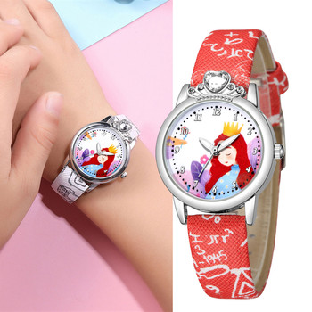 Child Fashion Children Quartz Watches Leather Band Kids Student Watch Boy Girl Wristwatches Time Clock Gift Orologio Per Bambini new kids shine dazzling light luminous silicone band watch children digital watches for boy girl youth teen man clock child time