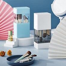 2-in-1 Makeup Brush Storage Box Makeup Brush Holder Drying Rack Makeup Organizer Cosmetic Storage Bucket Plastic Box Dustproof