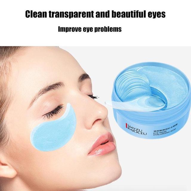 60pcs Hyaluronic Acid Firming Eye Patch Moisturizing Blue Eye Mask Remove Dark Circles Sleep Eye Mask Eye Care Korean Makeup 3