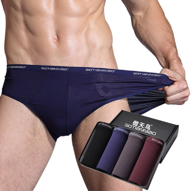 4PCS/lot 5XL Modal Men's Underwear Briefs Breathable Man underpants Briefs Panties Male Underwear Comfortable Shorts Men Briefs