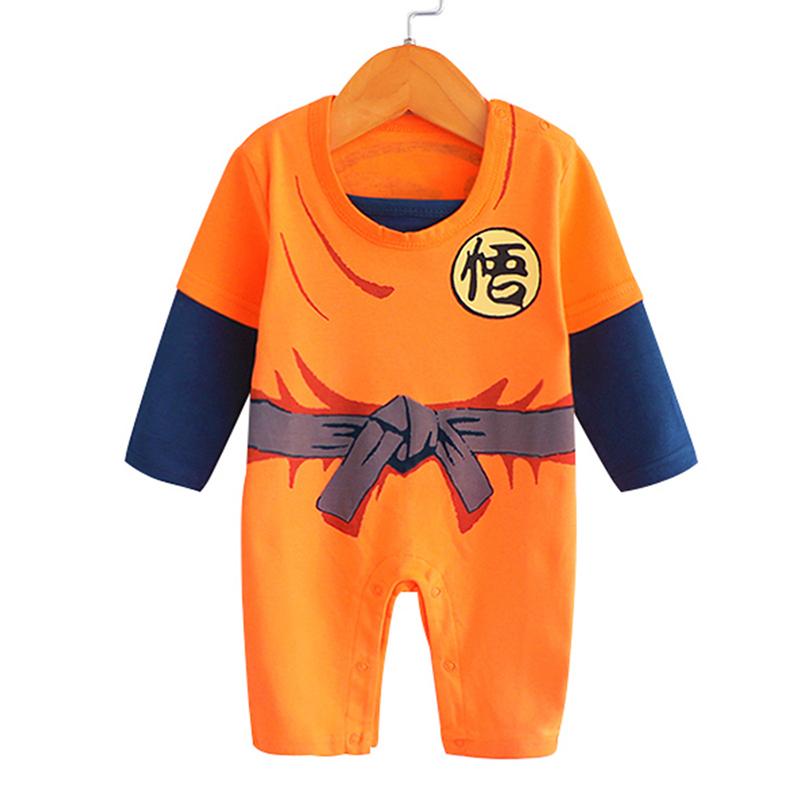 DBZ Anime Clothes Newborn Baby Boy Costume Organic Cotton Halloween Children Overalls New Born Clothing Infant Romper Onesie