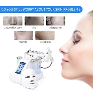 Image 5 - 8 في 1 هيدرا جهاز تقشير الجلد RF بالموجات فوق الصوتية الوجه المياه النفاثة تقشير ماسي اللوازم الطبية الجلد سطع تشديد