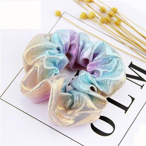 Корейский женский ободок для волос для девочек, полосатые женские резинки для волос, конский хвост, Женский держатель, веревка с ананасовым принтом, аксессуары для волос - Цвет: m1