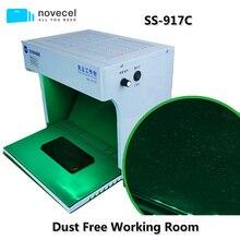 חדש SS 917C אבק משלוח חדר נייד אנטי אבק עבודה ספסל ניקוי חדר עם אבק בדיקת לתיקון טלפון נייד כלים