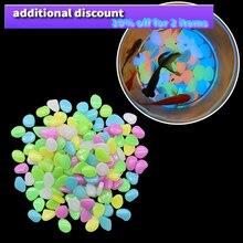 100Pc Lichtgevende Steen Tuin Decoratie Glow Pebbles Stones Bruiloft Voor Bloempot Loopbruggen Aquaria Decoratie Niet Giftig