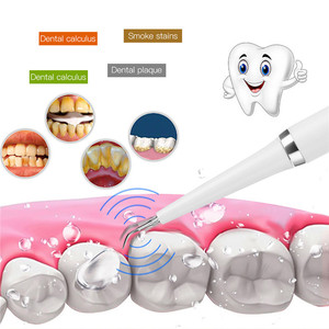 Image 3 - Electric Sonic Dental Calculus Remover Scaler Teeth Smoke Stains Remover Tool Dental Teeth Whitening Toothbrush 2 Brush Heads