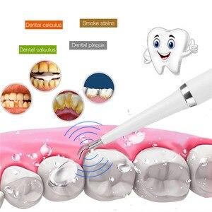 Image 3 - Sonico elettrico di Tartaro Remover Scaler Denti Macchie di Fumo di Rimozione Strumento Dentale Sbiancamento Dei Denti Spazzolino Da Denti 2 Teste della Spazzola