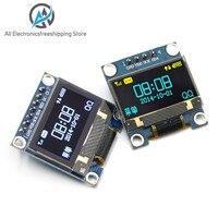 0.96 인치 IIC 직렬 노란색 파란색 OLED 디스플레이 모듈 128X64 I2C SSD1306 12864 LCD 스크린 보드 GND VCC SCL SDA 0.96