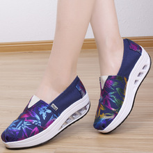 Woman Platform Shoes Height Increasing Canvas Shoes