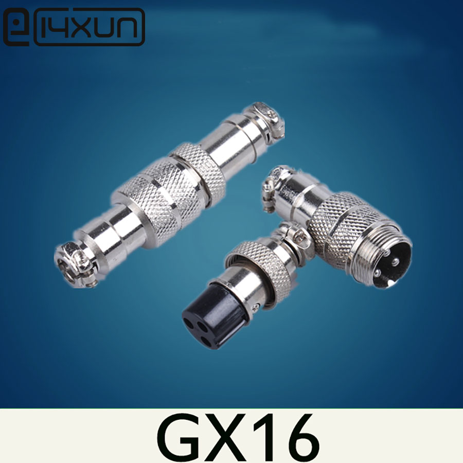50Set GX16 Docking 2 3 4 5 6 7 8 9 10 Pin Aviation Connector Male Female Butt Joint 16mm Wire Circular Panel Socket Plug image