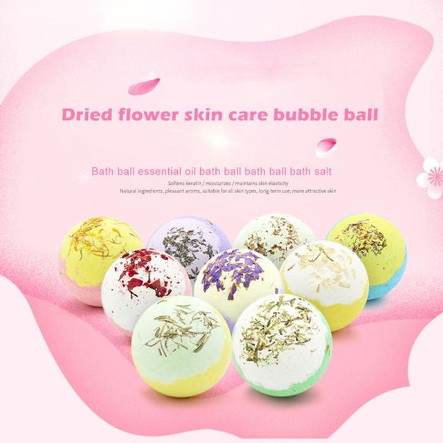 Bath Salt Ball Lightness and Portability No Space Occupy Ease Shower Bomb Bubble Moisturize Exfoliating Soap Essential Oil