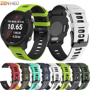 20mm Sport Silicone Strap for Garmin Forerunner 245 245M 645 Smart Watch Band Wristband For Samsung Galaxy watch Active 2 20mm silicone watch band strap for garmin forerunner 645