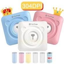 Peripage 304 dpi mini portátil bluetooth impressora de fotos bolso impressão térmica conexão usb imprenas presentes
