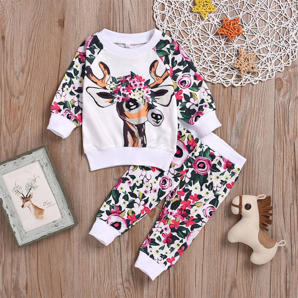 Toddler Baby Kid Girl Long Sleeve Flower Coat Jacket Toddler Kids Clothes Outfit