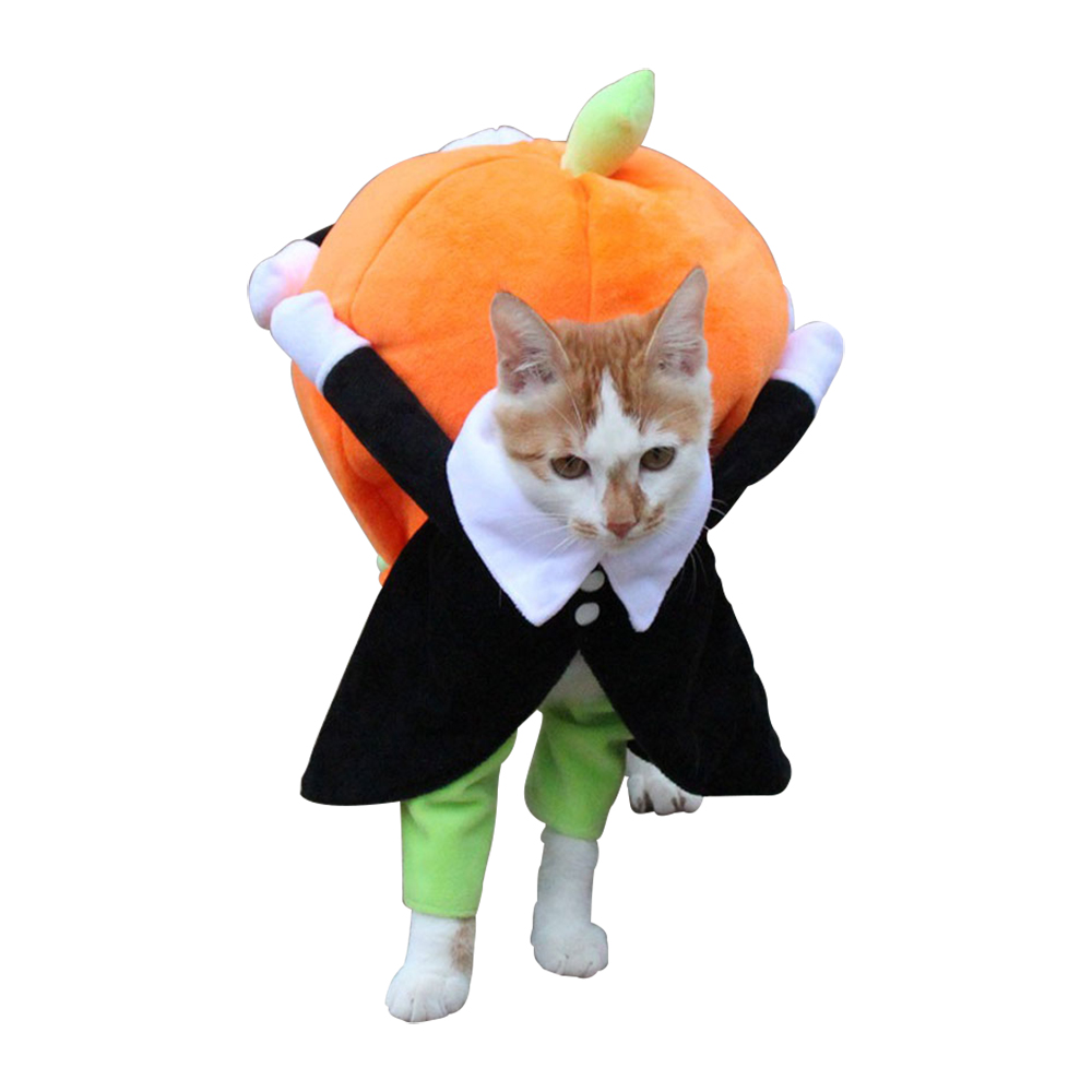 Dog Clothes Halloween Funny Pet Pumpkin Costume Pet Cosplay Special Events Apparel Outfit Dog Cute CostumesCat Clothing   -
