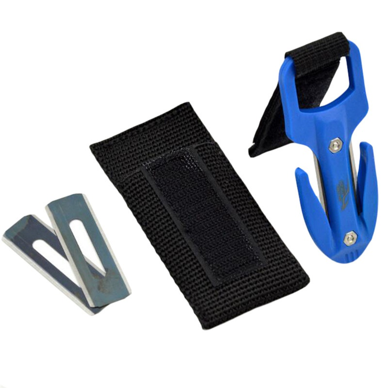 Portable Diving Cutting Knife Diving Snorkeling Safety Secant Cutting Knife Hand Line Cutter Diving Equipment(China)