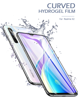 CHYI Hydrogel film for realme xt x2 x50 pro curved soft screen protector film for oppo a5 a9 2020 C3 5 6 pro Non glass