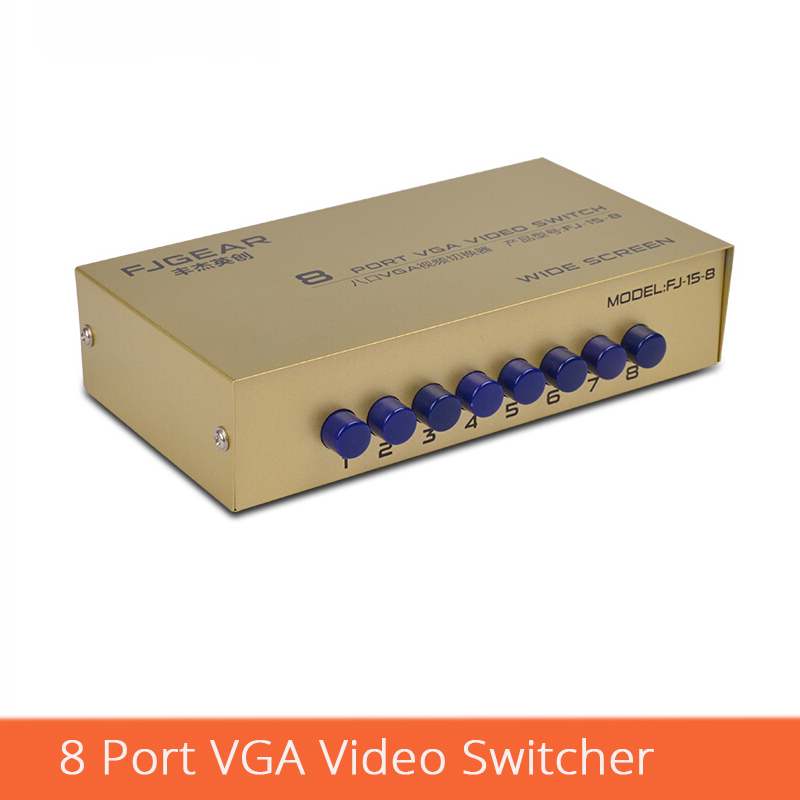 8 Port VGA Switch  Without USB 8 Input 1 Output VGA Video Selector 8 Computers Share One Monitor FJ-15-8