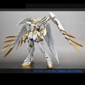 Image 5 - BANDAI MG 1/100 XXXG 00W0 Titanium Alloy Coloring Wing Gundam Zero Angel Model Assembly Toys Action Toy Figures