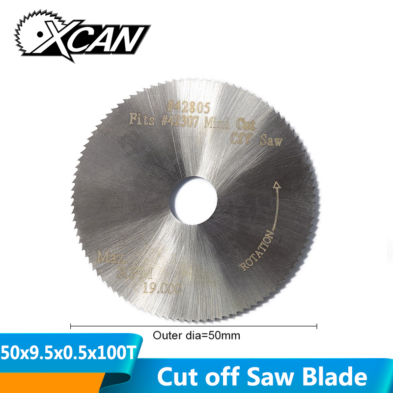 XCAN 1pc 50x9.5x0.5mm 100T HSS Circular Saw Blade Fit #42307 42805 Mini Cut Off Saw Power Tools Accessories Mini Cutting Disc