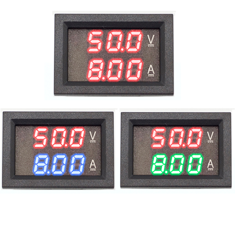 Цифровой мини-Вольтметр Амперметр, 0,56 дюйма, 0-100 в, 0-10 А