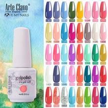 Arte Clavo Gel Polish Spring Summer Color LED Nail Yellow Green Red Fasion Gel Soak Off 8ml Manicure Acrylic Top Base Nail Art