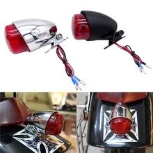Universal 1 Pcs 12V Motorcycle LED Brake Stop Running Tail Rear Light For Cafe Racer Bobber Cruiser Chopper Custom