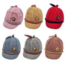 Winter Warm Korean Baby Newborn Knitted Cap Infant Toddler Fruit Peaked Hat