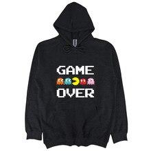 Offiziell Herren Retro Game Over sweatshirt Schwarz Verschiedene Gren Kühlen Casual sweatshirt männer Unisex hoodies sbz6103