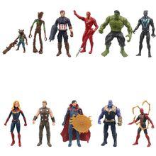 2021Hasbro 15cm MARVEL Spider-Man Captain The Avengers Dr. Strange Rocky Panther Superhero Anime Toy Children's Birthday Gifts