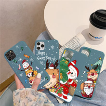 Christmas Cartoon Deer Case For Huawei P30 Lite P20 P10 P40 Mate 10 20 30 Lite Pro Plus Y6 Y7 Y9 P Smart 2020 2019 S Z TPU Cover(China)