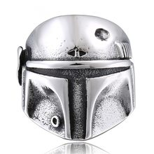 Star Wars The Mandalorian Helmet Ring Cosplay Prop Jewelry Ring for Party Wedding(China)